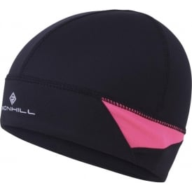 Ronhill Vizion Beanie and Glove Set AW15 Black/Pink