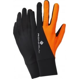Ronhill Vizion Beanie and Glove Set AW15 Black/Orange