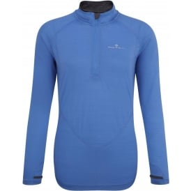 Ronhill Merino Long Sleeve Tee Blue Womens