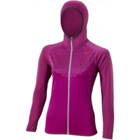 Mizuno Breath Thermo Hoody Wild Aster/Alloy Womens