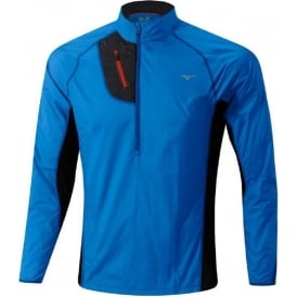 Mizuno Breath Thermo Hyper Wind Top Blue/Black Mens