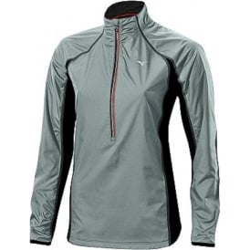 Mizuno Breath Thermo Hyper Wind Top Dark Slate/Black Womens