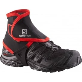 Salomon Trail Gaiters High Black/Red