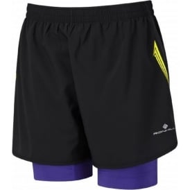 Ronhill Trail Fuel Twin Short Black/Electric Purple Womens