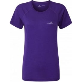 Ronhill Aspiration Motion Short Sleeve Tee Electric Purple Womens