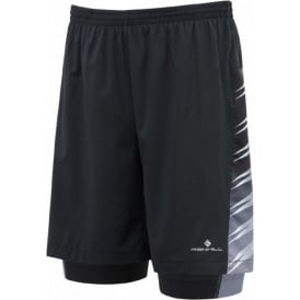 "Ronhill Advance 7"" Twin Short Black Mens"