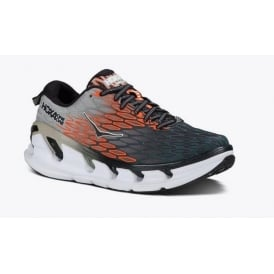 Hoka Vanquish 2 Mens Road Running Shoes Grey/Orange Flash