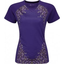 Ronhill Aspiration Short Sleeve Tee Electric Purple/Sun Womens