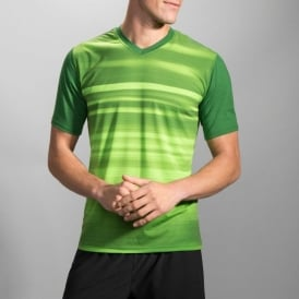 Brooks Fly-By Short Sleeve Tee Heather Forest Blur Mens