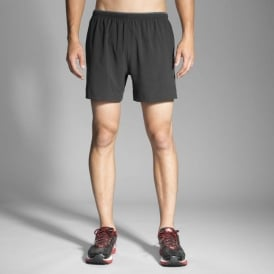 "Brooks Sherpa 5"" Short Black Mens"