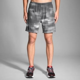 "Brooks Sherpa 7"" 2-in-1 Short Asphalt Haze Mens"