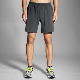 "Brooks Sherpa 7"" 2-in-1 Short Black Mens"