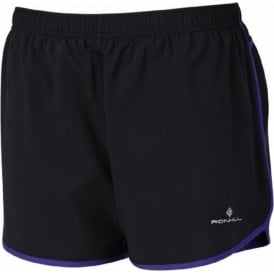Ronhill Trail Cargo Short Black/Electric Purple Womens