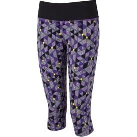 Ronhill Aspiration Rhythm Capri Electric Purple Print Womens