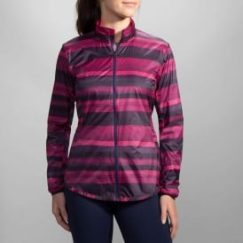 Brooks LSD Jacket Navy Scape/ Light Bloom Womens