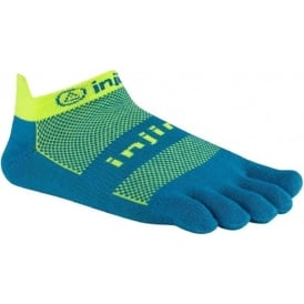 Injinji Socks Run Lightweight No Show Electric Blue Running Toe Socks