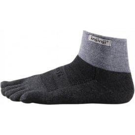 Injinji Socks Trail Midweight Mini Crew Granite
