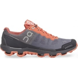 ON Cloudventure Grey/Lava Womens
