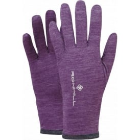 Ronhill Merino 200 Glove Elderberry/Grey Marl