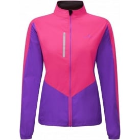 Ronhill Windlite Womens Running Jacket Fluo Pink/Lilac