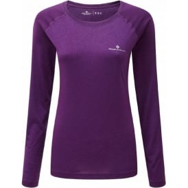 Ronhill Motion Long Sleeve Tee Elderberry Womens