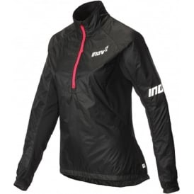 Inov8 AT/C Thermoshell Half Zip Womens Running Jacket Black/Pink