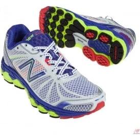 New Balance 880 V3 Silver/Blue Road Running Shoes (B WIDTH - STANDARD) Womens