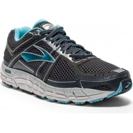 Brooks Addiction 12 Anthracite/Blue/Silver B WIDTH Womens