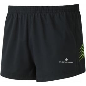 Ronhill Men's Stride Cargo Racer Shorts Black/Fluo Yellow