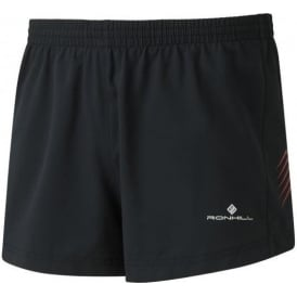 Ronhill Men's Stride Cargo Racer Shorts Black/Flame Red