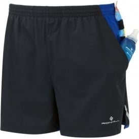 Ronhill Men's Stride Cargo Short Black/Cobalt Blue