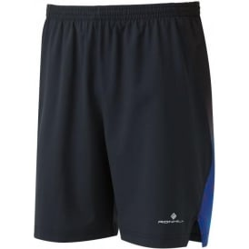 "Ronhill Men's Momentum 7"" Short Black /w Cobalt Blue"