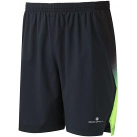 "Ronhill Men's Momentum 7"" Short Black/Forest Green"