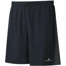 "Ronhill Men's Momentum Twin 7"" Short Black Charcoal Marl"