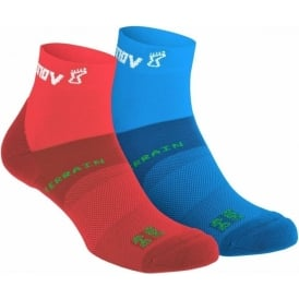 Inov8 All Terrain Sock Mid Red/Blue Twin Pack