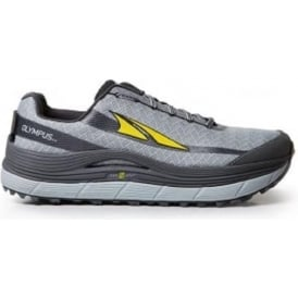 Altra Olympus 2.0 Mens Zero Drop Trail Running Shoes Grey/Yellow