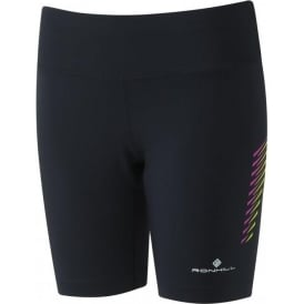 Ronhill Womens Stride Stretch Short Black/Thistle