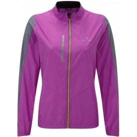Ronhill Stride Windspeed Jacket Womens Thistle Purple/Granite