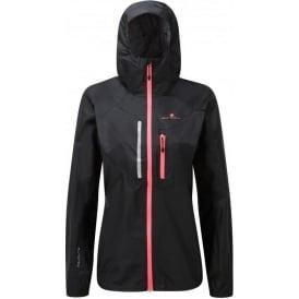 Ronhill Stride Rainfall Waterproof Jacket Womens Black/Purple