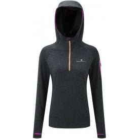 Ronhill Momentum Victory Hoodie Womens Grey/Charcoal Marl