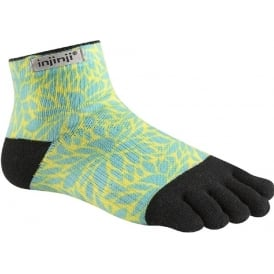 Injinji Socks Run Lightweight Mini Crew Fern Womens Running Toe Socks