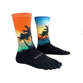 Injinji Socks Trail Midweight Crew Coastal Running Toe Socks