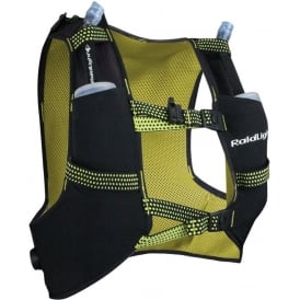 Raidlight Running Vest 3L Black/Yellow (2x 350ml Flasks Included)