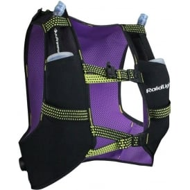 Raidlight Running Vest 3L Black/Purple (2x 350ml Flasks Included)