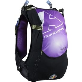 Raidlight Running Vest 10L Black/Purple (2x 600ml Flasks Included)
