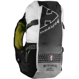 Raidlight Running Vest 20L Black/Yellow (2x 600ml Flasks Included)