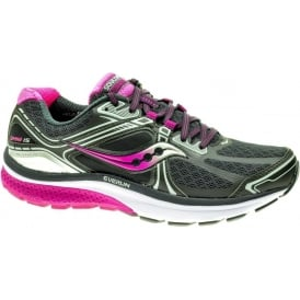 Saucony Omni 15 Road Running Shoes Grey/Purple/Pink Womens