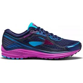 Brooks Aduro 5 Womens B (STANDARD WIDTH) Road Running Shoes Evening Blue/Purple Cactus Flower/Teal Victory