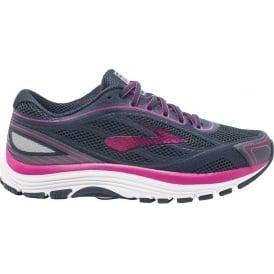 Brooks Dyad 9 Womens D (WIDE WIDTH) Road Running Shoes Ombre Blue/Festival Fuchsia/Mood Indigo