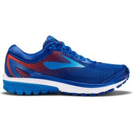 Brooks Ghost 10 Mens D (STANDARD WIDTH) Road Running Shoes Mazarine Blue/Methyl Blue/Cherry Tomato